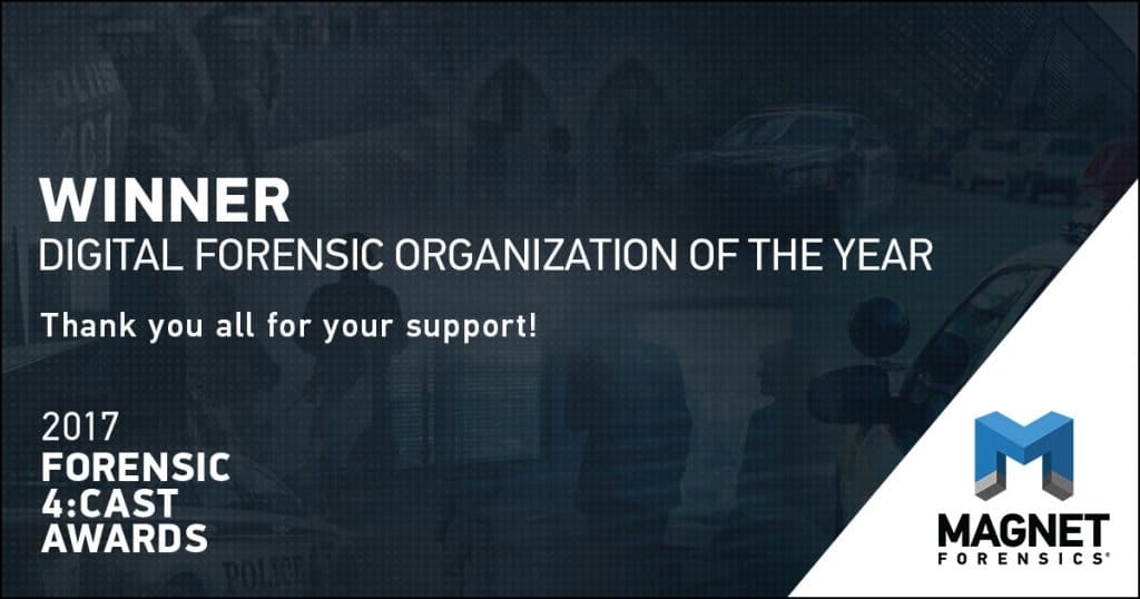 Thank you for naming Magnet Forensics the Digital Forensic Organization of the Year!