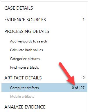 AXIOM artifact details