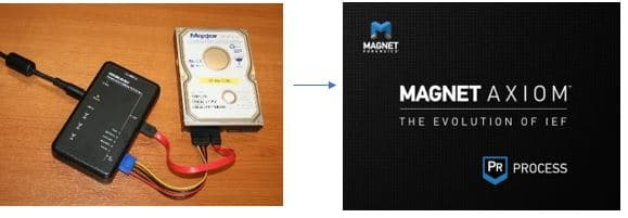 Running Magnet AXIOM on a write blocked drive