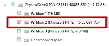 Searching through partitions