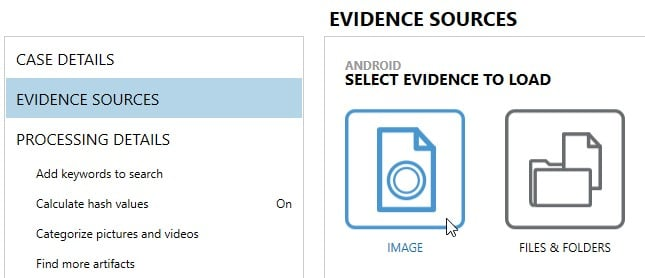 Evidence Sources in AXIOM