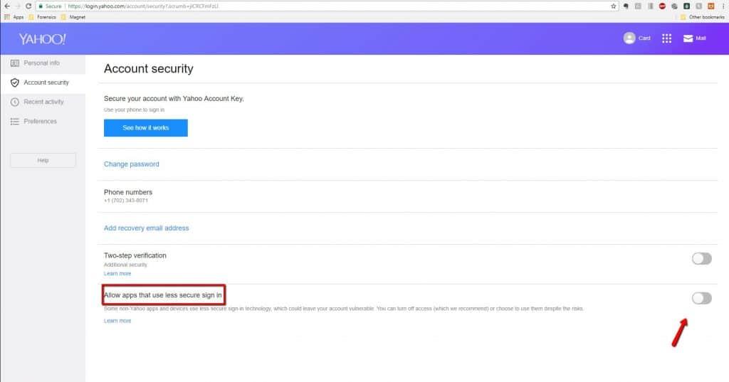 Yahoo Account Access