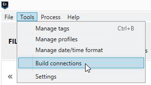 Screenshot of AXIOM Connections manual building