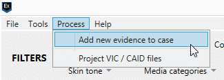 Screenshot of adding new evidence in Magnet AXIOM software