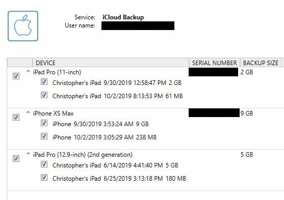 iCloud Backup Acquisition