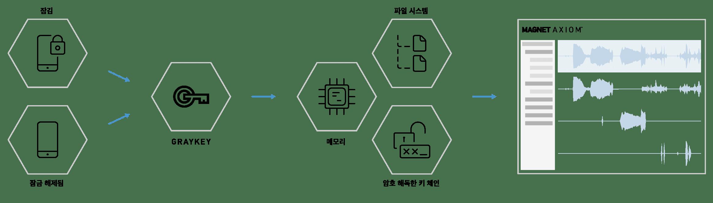 AXIOM GrayKey Diagram - Korean
