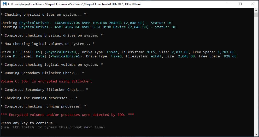 MAGNET Encrypted Disk Detector v3.0