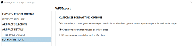 Customize formatting options