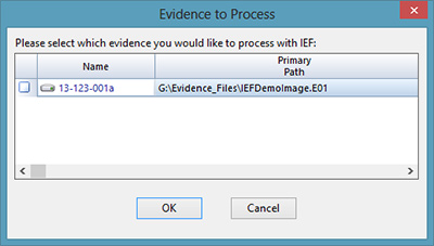 Evidence to process