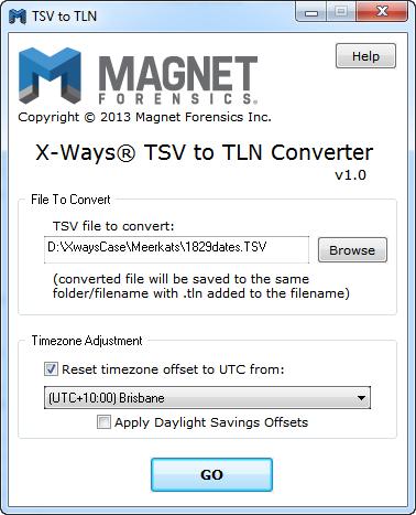 X-Ways TSV to IEF Timeline